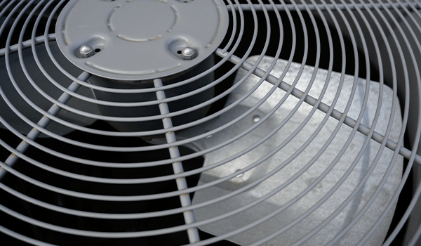 outdoor ac fan not spinning